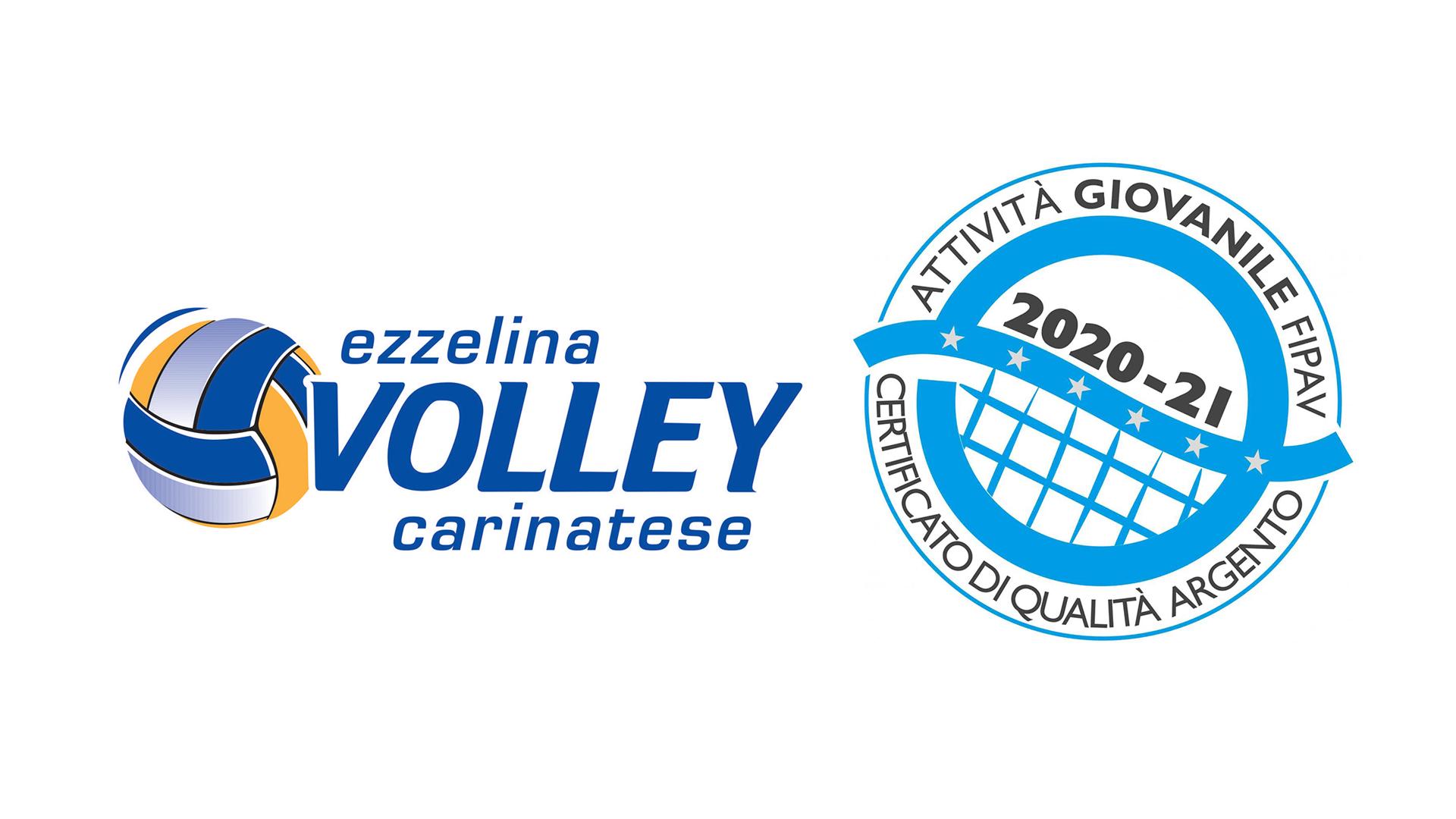 L'Ezzelina Volley Carinatese ottiene il Certificato di Qualità FIPAV d'argento