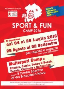 SPORT & FUN CAMP 2016