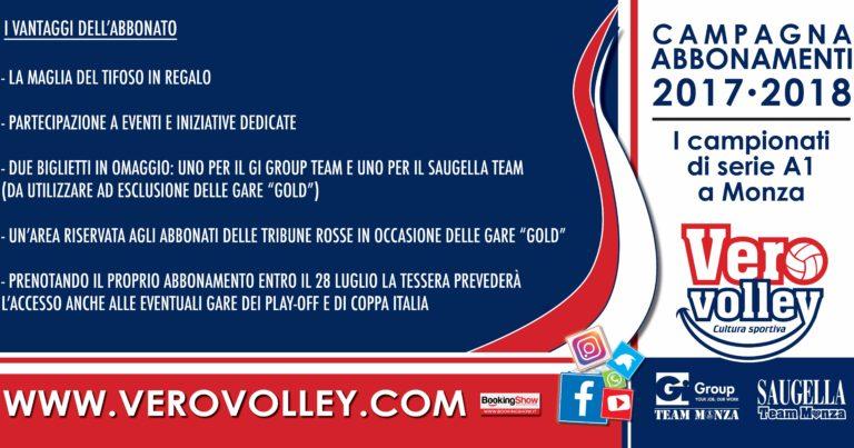 Gi Group Team e Saugella Team: resta aperta la campagna abbonamenti!