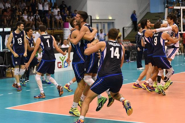 L'ITALIA U19 MASCHILE DI FOCOSI E' D'ORO AGLI EYOF