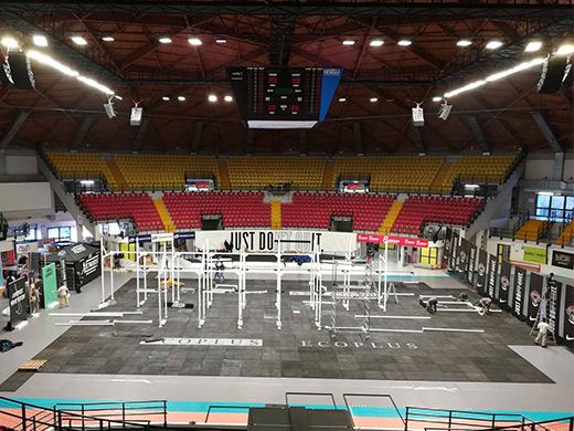La Candy Arena pronta ad ospitare il meglio del crossfit internazionale