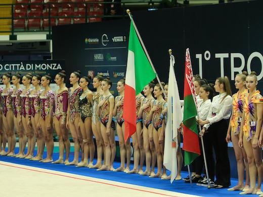 Trofeo Città di Monza di ginnastica ritmica: le Farfalle azzurre battono una forte Bielorussia